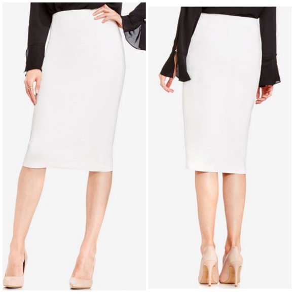 6d7ce21b3a Vince Camuto Skirts | Vanilla Ponte Knit Pencil Skirt Nwt | Poshmark